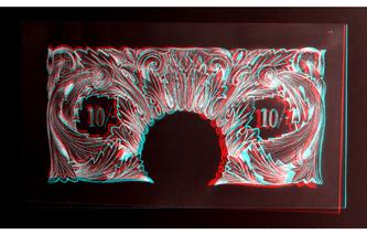 Original 10 Shilling Note 3D Inverted
