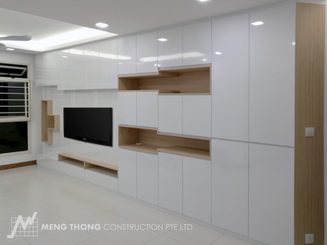 TV console with storage space