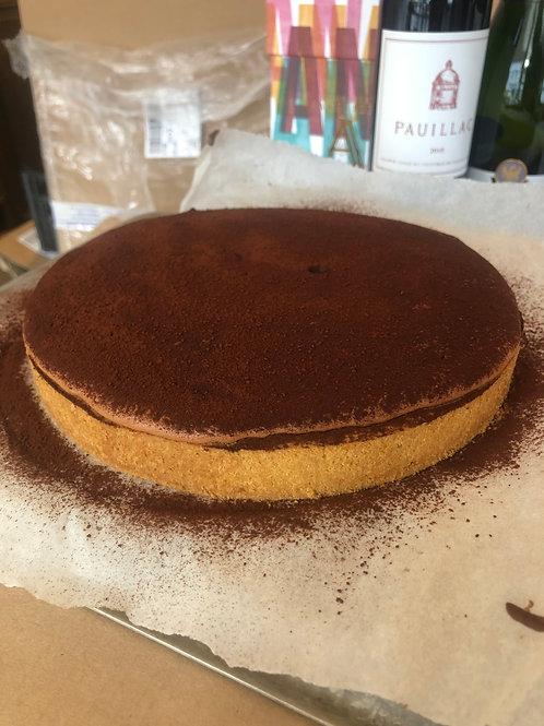 Aerated chocolate tart