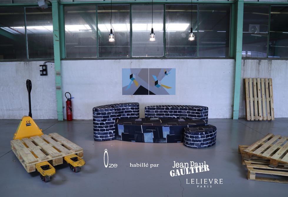 Canapé Ôze by Fred H habillé par Jean Paul Gaultier   Hashtag Design Paris