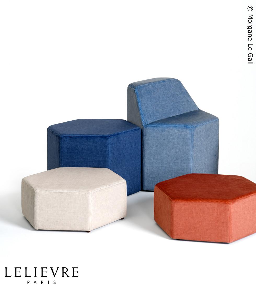 Poufs HexÔ by Fred Hernandez pour Lelièvre Paris #designparis