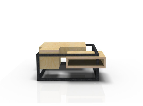 Table Basse Carrée W&S design by Fred Hernandez pour Hashtag Design Paris