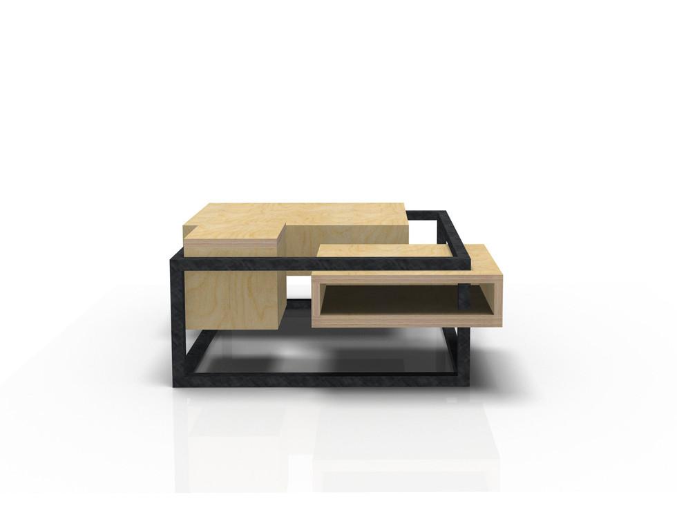 Table Basse Carrée W&S design by Fred Hernandez pour Hashtag Design Paris