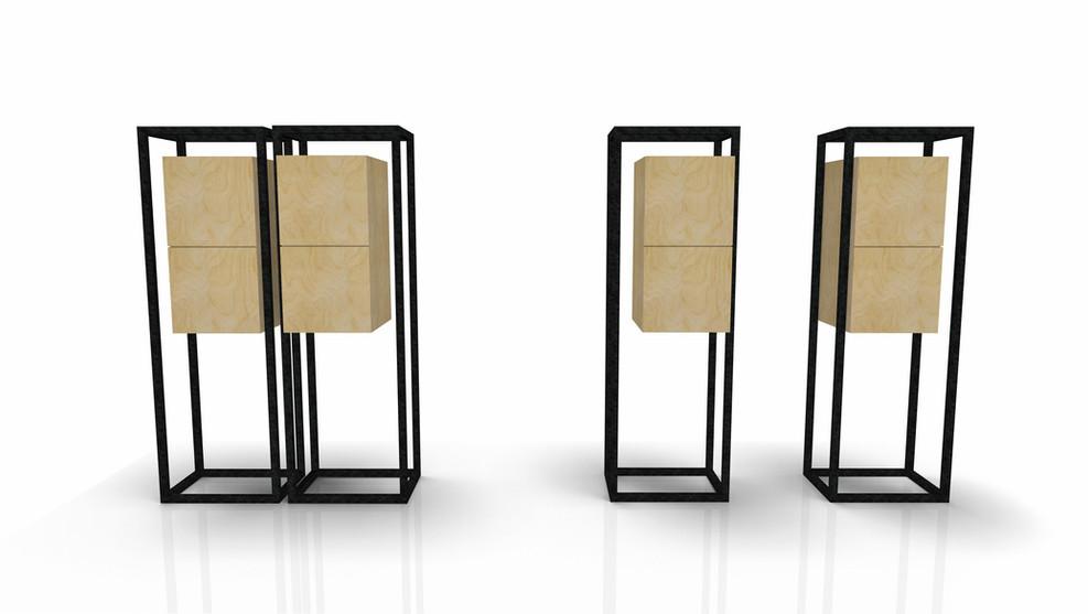 Cabinets Droite et Gauche W&S design by Fred Hernandez pour Hashtag Design Paris