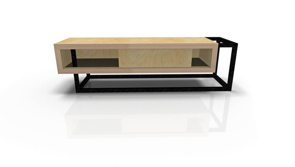 Meuble TV  W&S design by Fred Hernandez pour Hashtag Design Paris