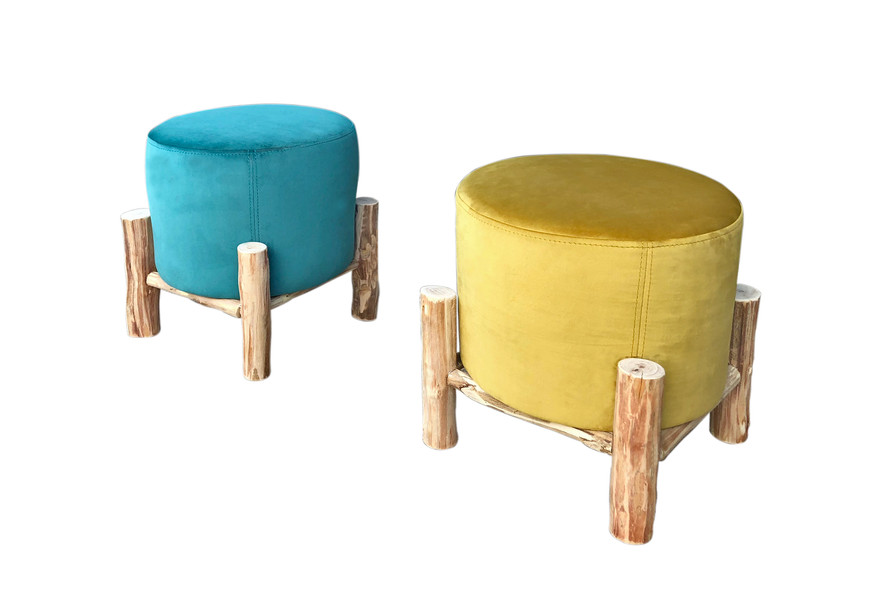 Poufs Bô M Velours By Fred H #designparis