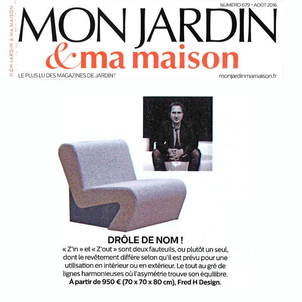 Mon Jardin & Ma Maison Parution Fauteuil Z'in By Fred Hernandez