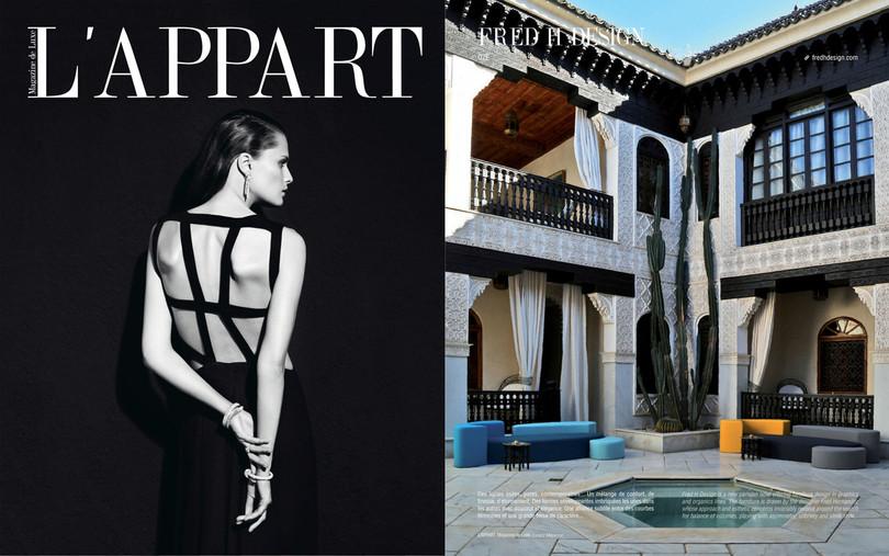 L'Appart Magazine Parution Canapé Ôze By Fred Hernandez