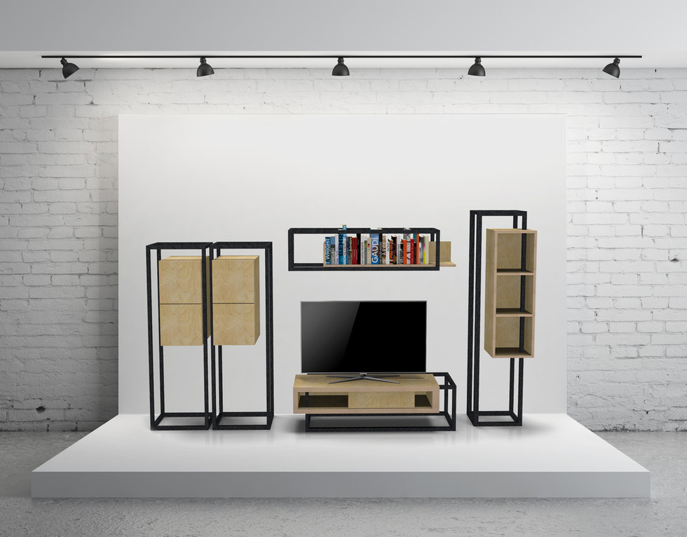 Composition Meuble TV Ligne W&S by Fred H pour #designparis