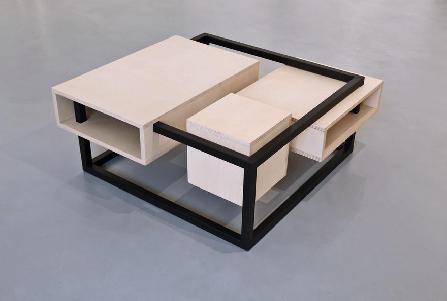 Hashtag Design Paris Table Basse Bois Metal design by Fred Hernandez