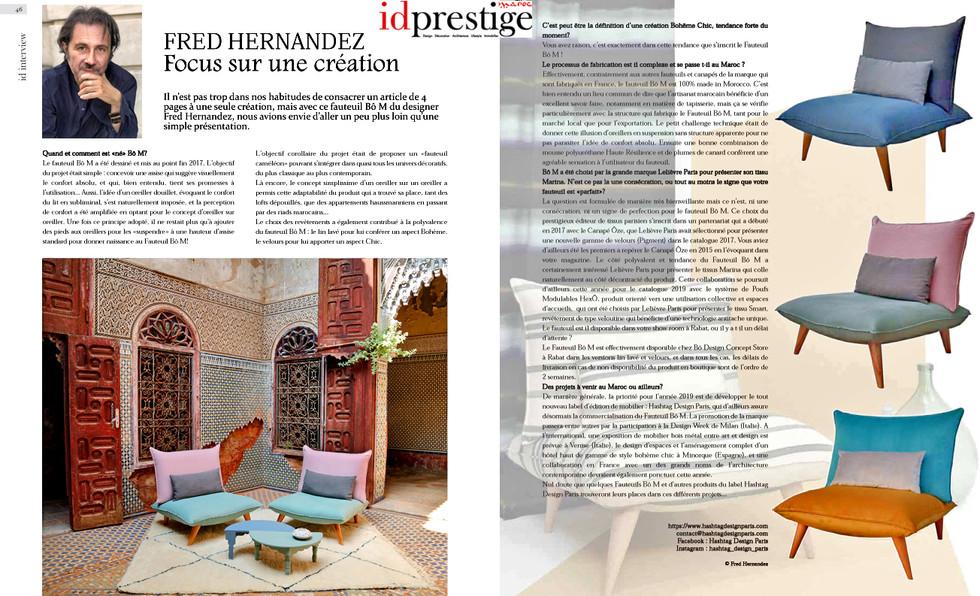 Interview Fred Hernandez Hashtag Design Paris dans Id Prestige Maroc