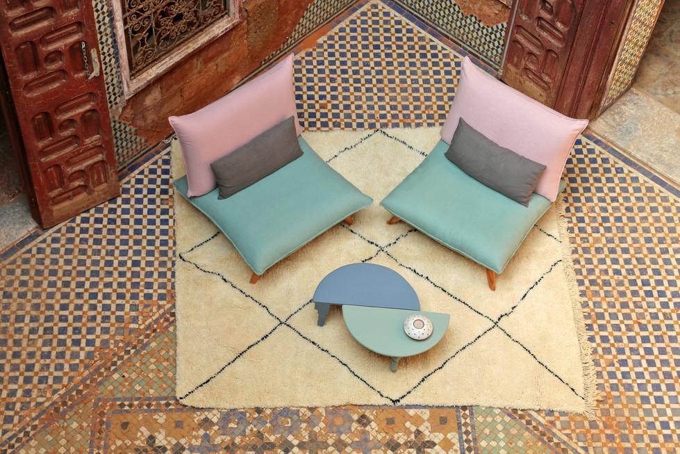 Fauteuil Bô M by Fred H, shooting Rabat Maroc  #designparis