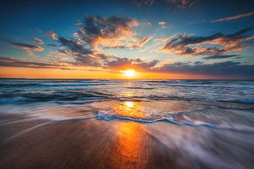 Sunrise over the sea and beautiful cloudscape..jpg