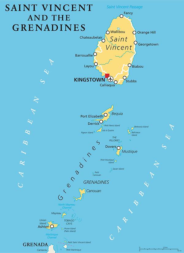 St. Vincent Color Map.png