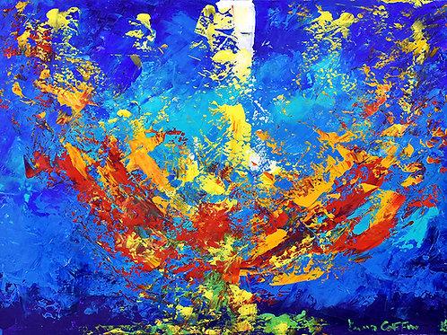 Radiance, peinture Abstraite moderne par l'artiste peintre Emma Coffin