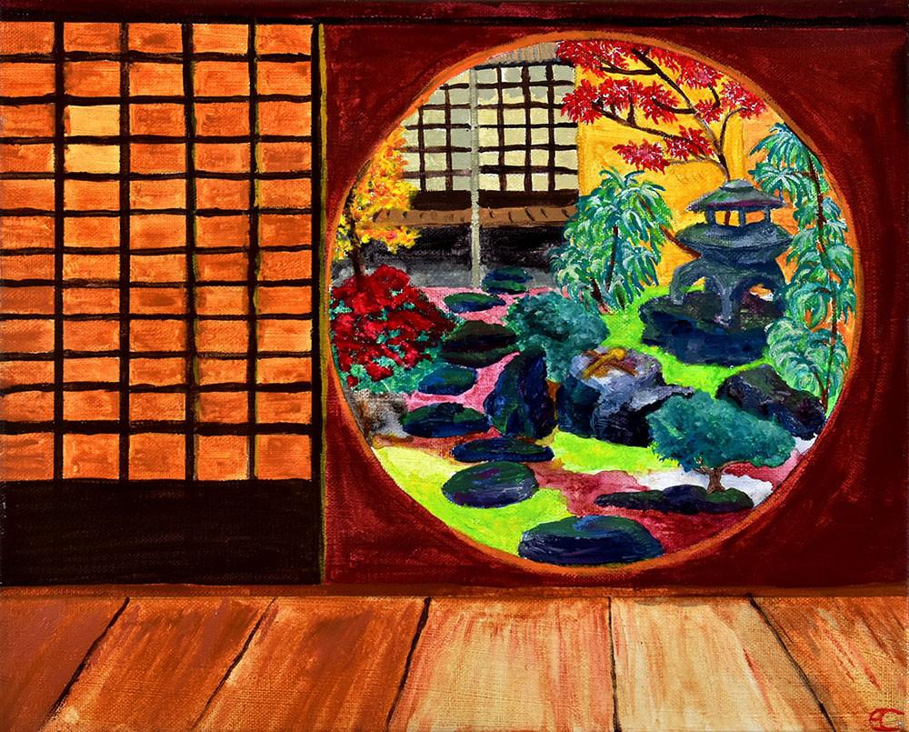 Japon-Kyoto : Maison avec jardin Zen