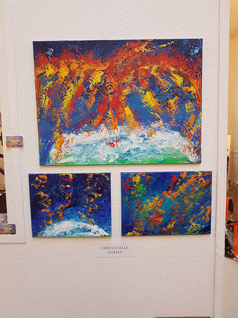 Emma Coffin  peintures abstraites le Phénix-Entities-Into the Deep