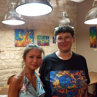 03- Vernissage Cantinella Emma Coffin peintre