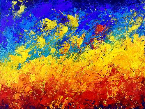Starlight peinture abstraite contemporaine univers Emma Coffin