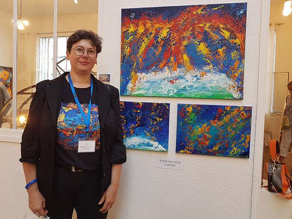 Emma Coffin Exposition  Art Show Emma Coffin artiste peintre