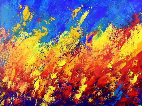 Living Colours peinture abstraite contemporaine Emma Coffin