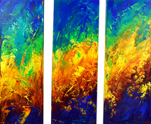 triptyque the beginning-the edge-the end.