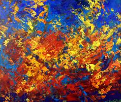 Pulsar peinture abstraite par Emma Coffin Artiste