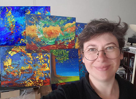 Emma Coffin artiste peintre à l'atelier Paris