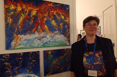 Emma Coffin artiste peintre et illustratrice Vernissage Exposition Art Show