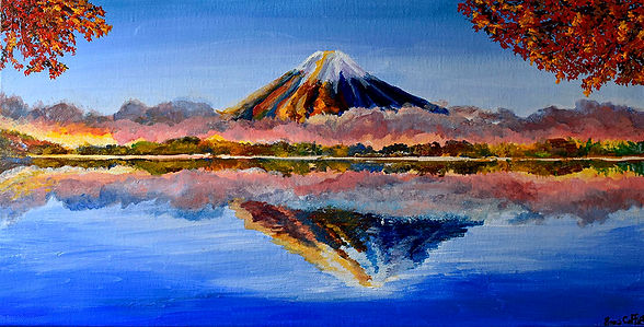 Emma Coffin Artiste Peintre Japon mont F