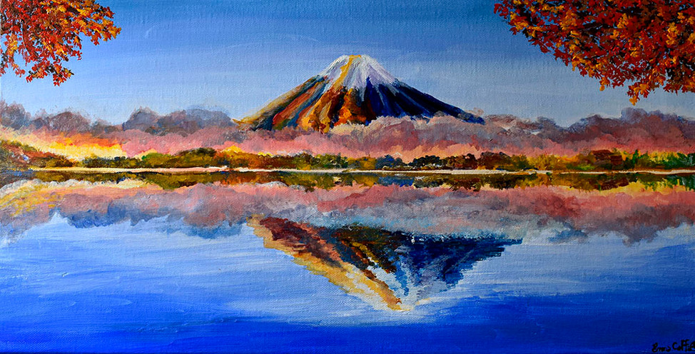 Japon Mont Fuji momiji