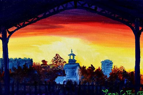 Paris Parc Georges Brassens peinture figurative urbaine de l'artiste peintre Emma Coffin