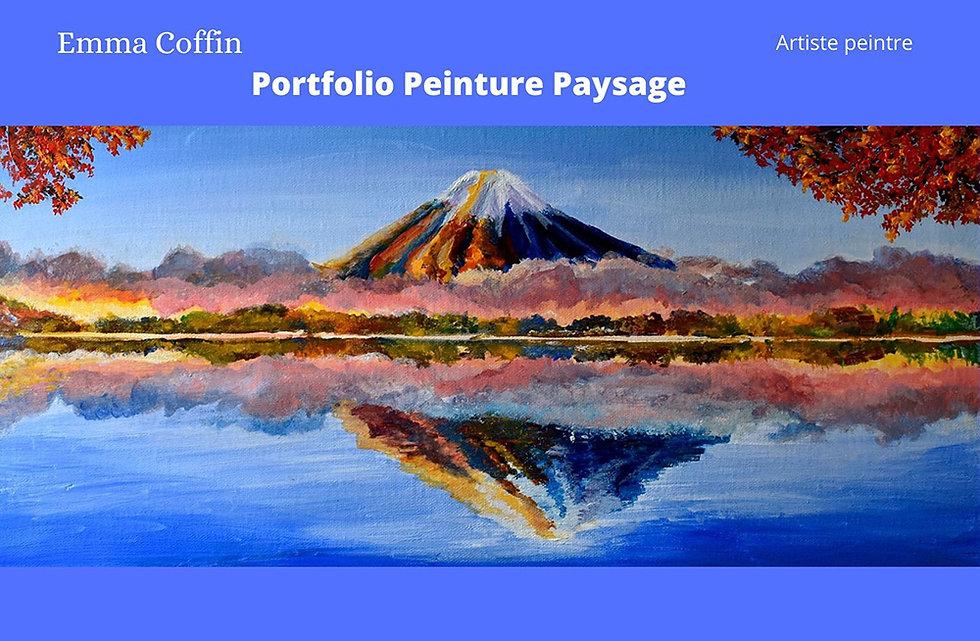 Présentation peinture figurative paysage Emma Coffin artiste peintre