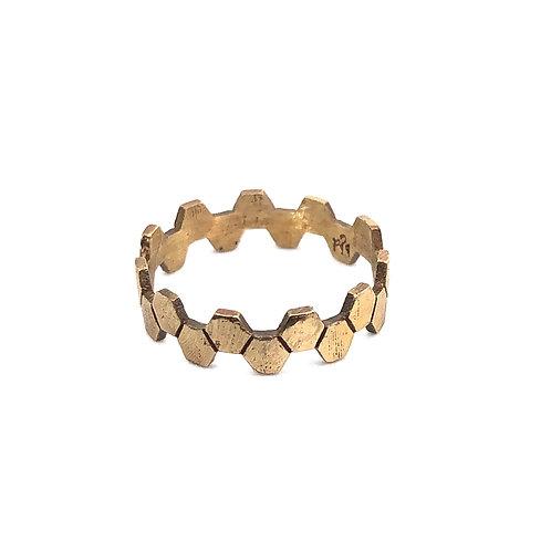 Honeycomb Stack Ring Bronze