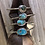 Thumbnail: Mini Cuff with Turquoise Hammered Stack