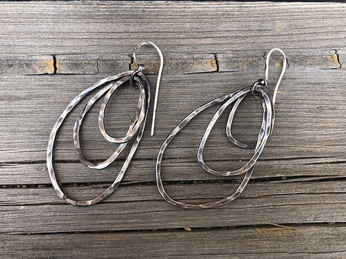 Triple Hammered Hoops