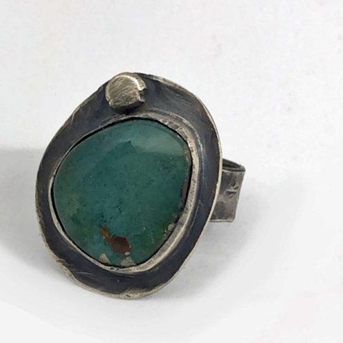 Teal Turquoise Patina Ring