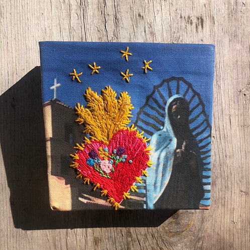 Our Lady Sacred Heart Embroidery Art