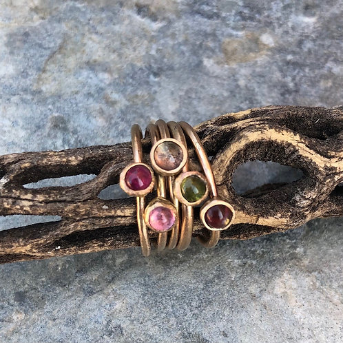 Tourmaline Mini Rings