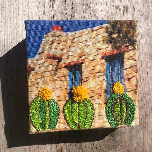 Stone House Embroidery Art