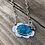 Thumbnail: Flower Necklace in silver with Morenci Turquoise
