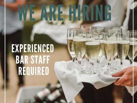 We Are Hiring: Experienced Bar Staff