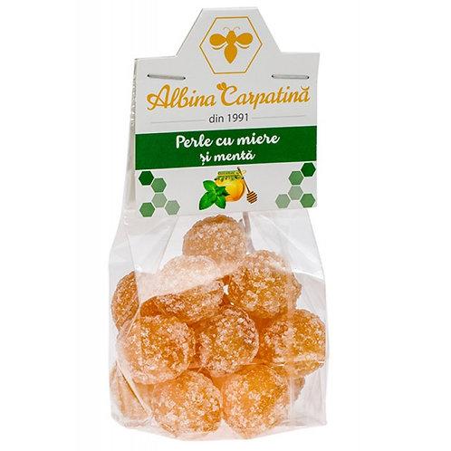 Perle cu miere si menta Albina carpatina 100g