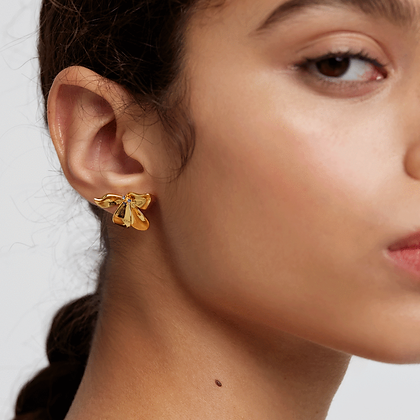 Ohrringe Fleur Gold