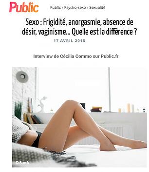 frigidité anorgasmie absence de désir vaginisme quelle est la différence ? avec cecilia commo
