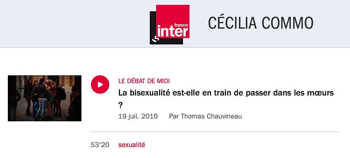La bisexualité est elle en train de passer dans les moeurs ?