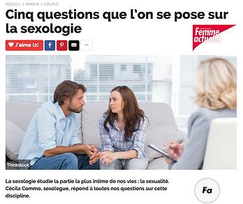 Cinq questions que l'on se pose sur la sexologie avec cecilia commo