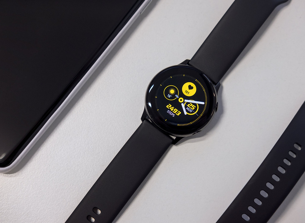 black sports watch with timer