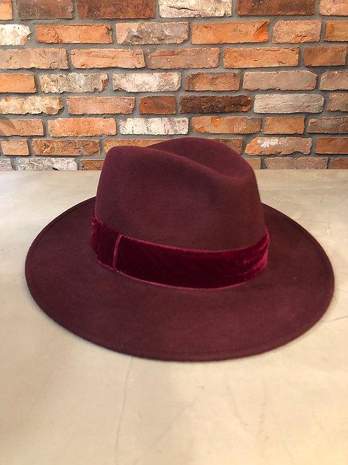 Wollen hoed met band