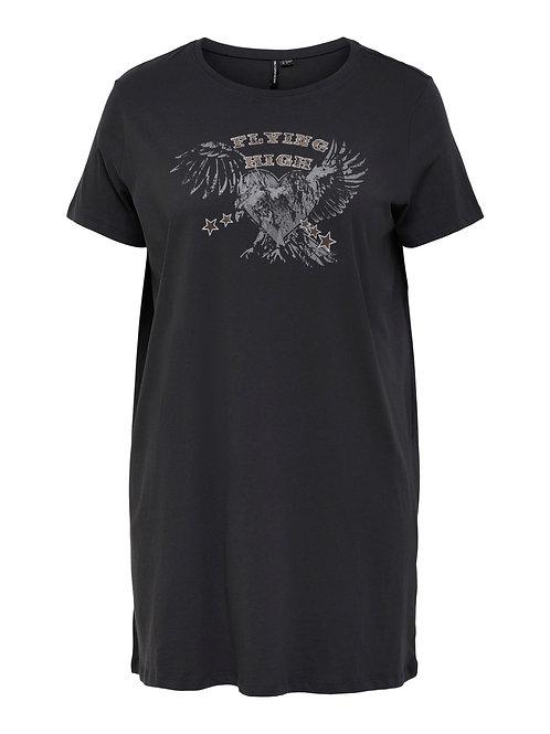 Long T-shirt/kort jurkje met adelaar